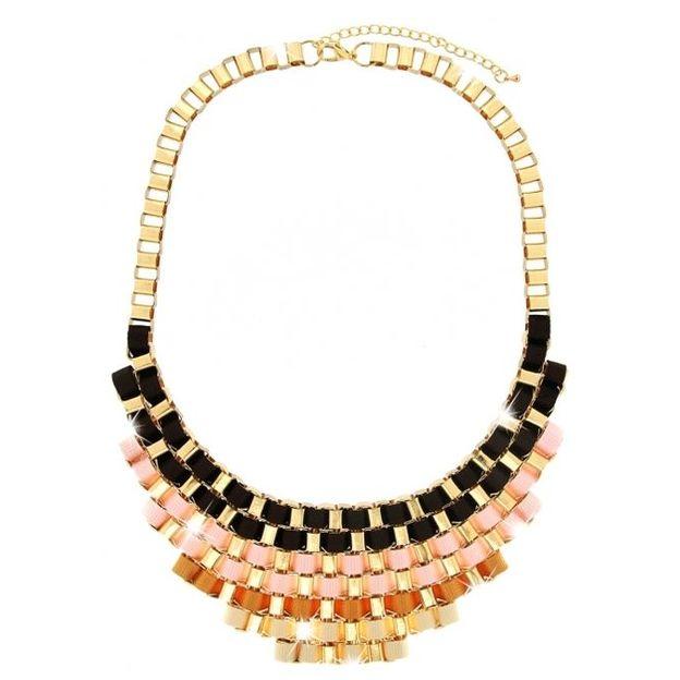 Halskette Rivas gold/beige/braun/rosé