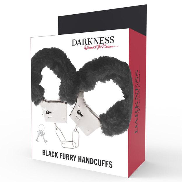 Plüsch Handschellen schwarz