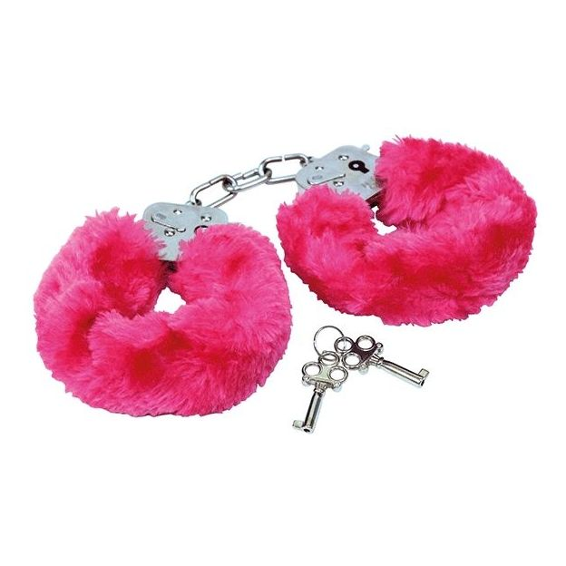 Plüsch Handschellen pink