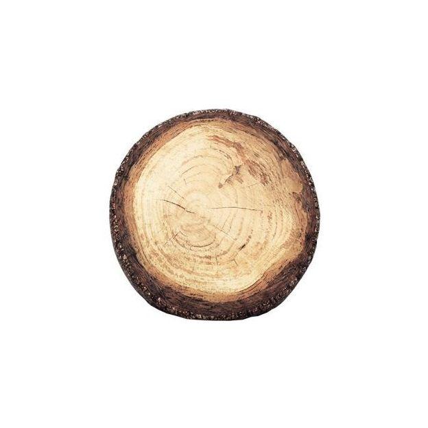 Pouf coussin rondin de bois