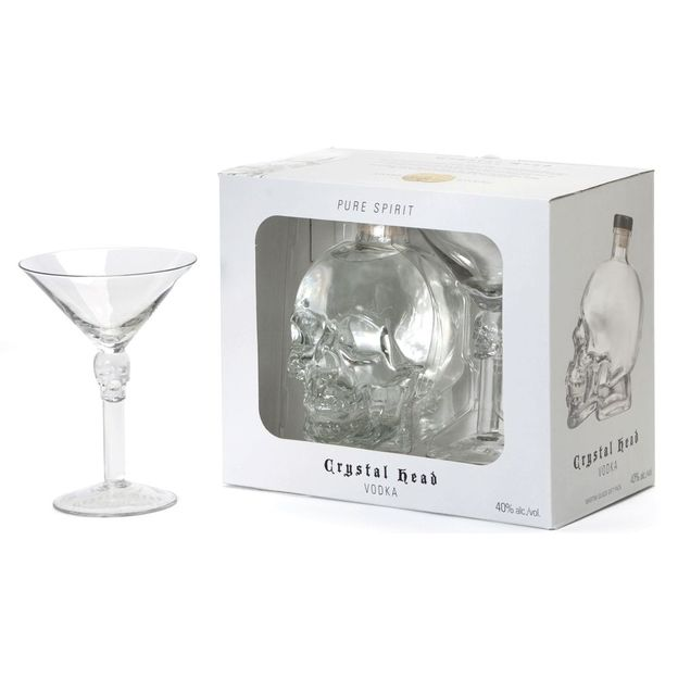 Set Crystal Head Vodka avec verre à cocktail