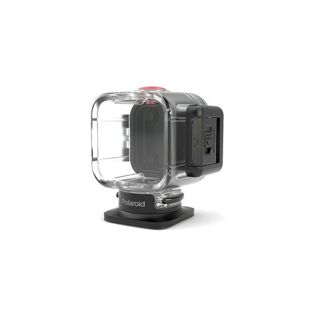 Polaroid Cube, caisson plongée et fixation ventouse