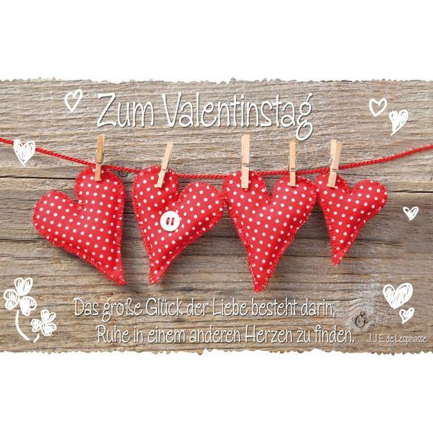 Grusskarte Valentinstag Liebesglück