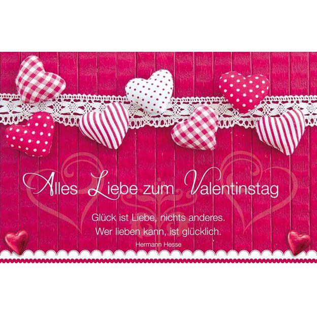 Grusskarte Valentinstag Glück ist