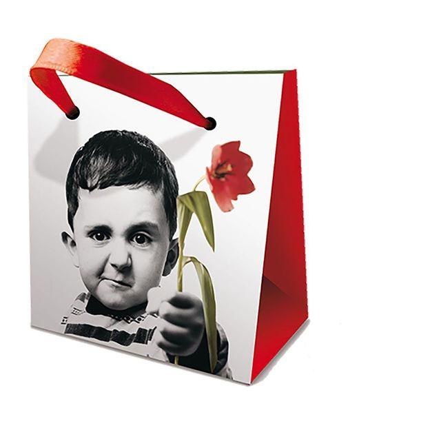 Mini Geschenktasche Blumen für Dich