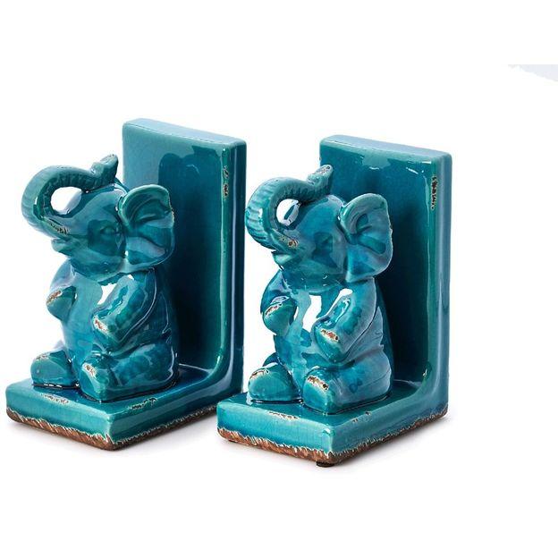 Elefanten-Buchstützen 2er Set
