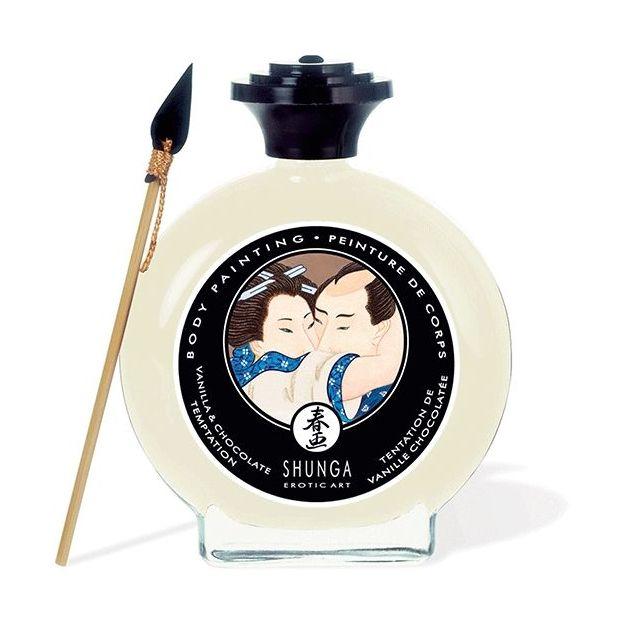 Shunga Peinture aphrodisiaque comestible - Chocolat blanc / Vanille