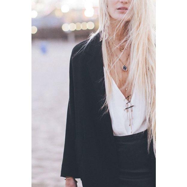 Halskette Elena - Sautoir Èchelle noir