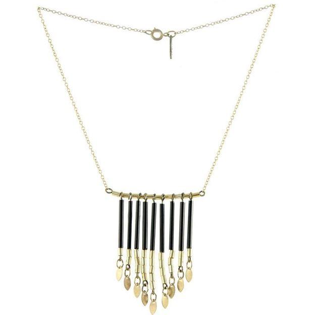 Halskette Elena - Collier tubes noir