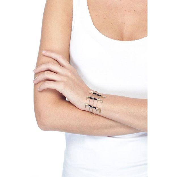 Armband Elena - Bracelet tubes noir