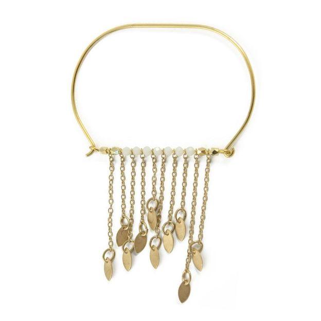 Bracelet Jonc perles et chaînes Léa