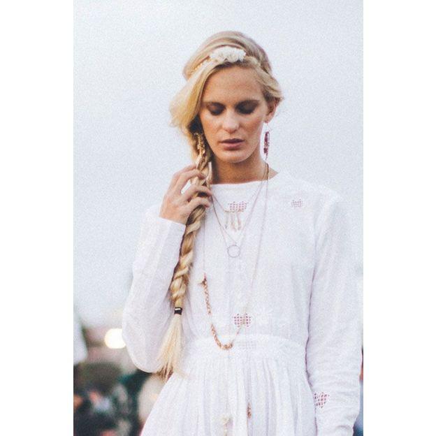 Haarband Frida - bouquet blanc
