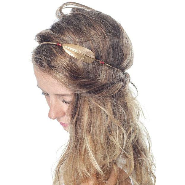 Serre tête Headband Tania - plume d'or