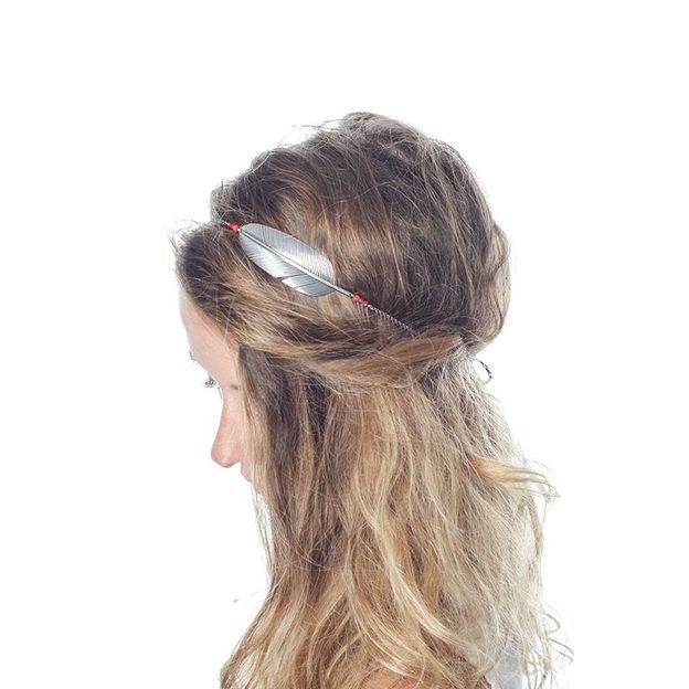 Haarband Tara - silber/blau