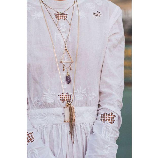 Halskette Lia - long améthyste