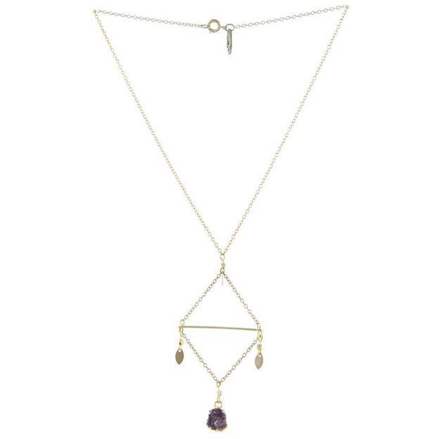 Halskette Lia - losange améthyste