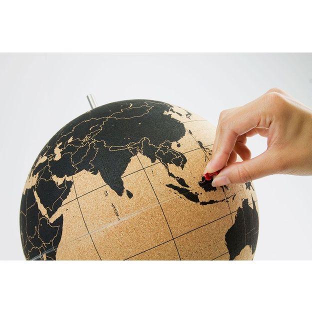 Globe terrestre en liège