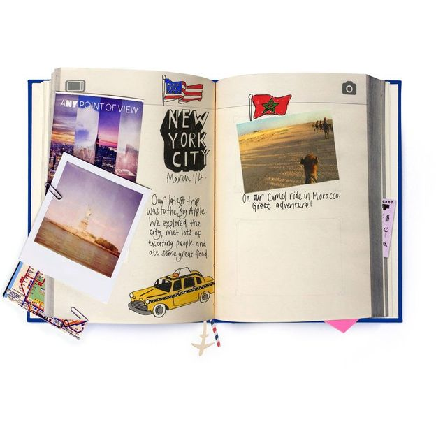 My Travel Journal blau