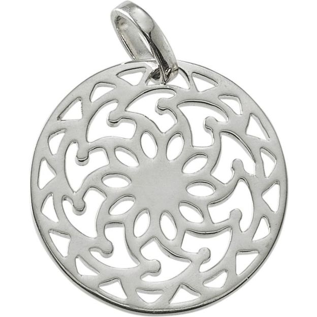 Little Mandala Sun Silver