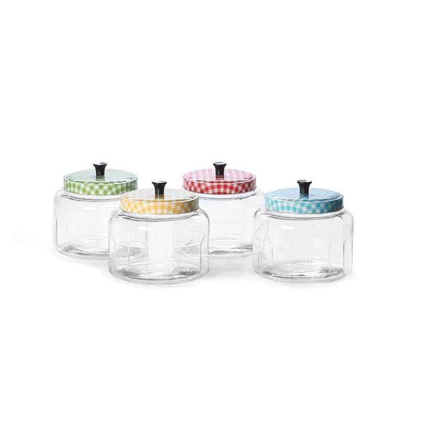 Aufbewahrungsdosen aus Glas Country Style 4er Set