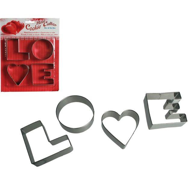 Emporte pièces set LOVE