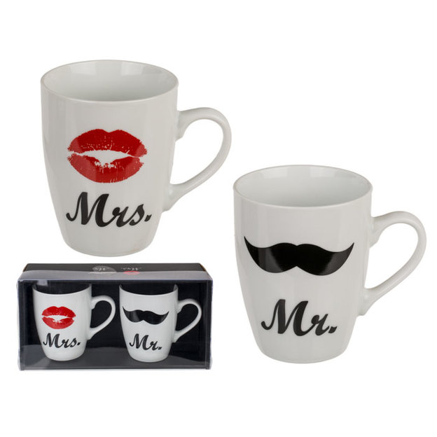 Tasses duo Mr. et Mrs.