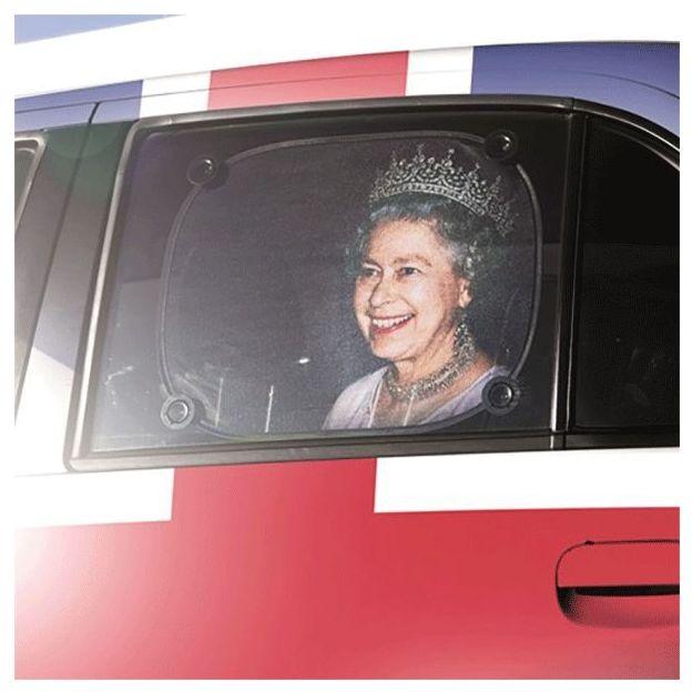 Pare soleil voiture Reine d'Angleterre