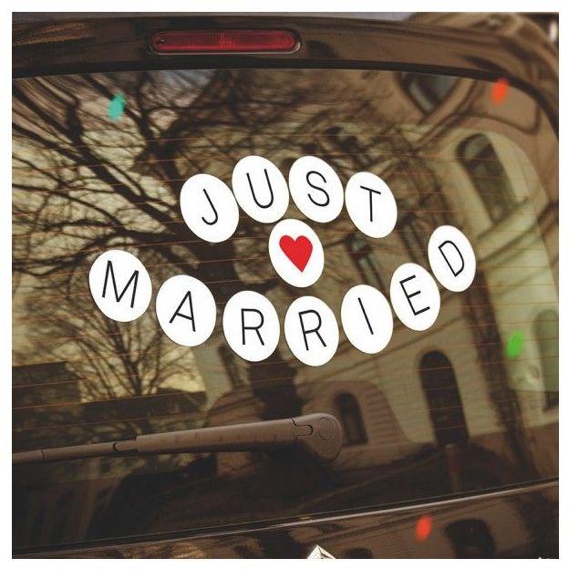 Hochzeit-Sticker Just Married