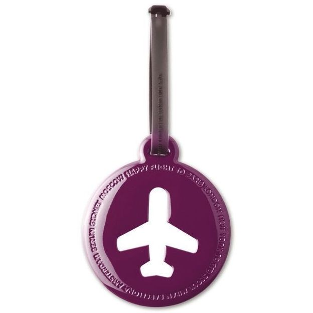 Happy Flight Kofferanhänger Rund Violett