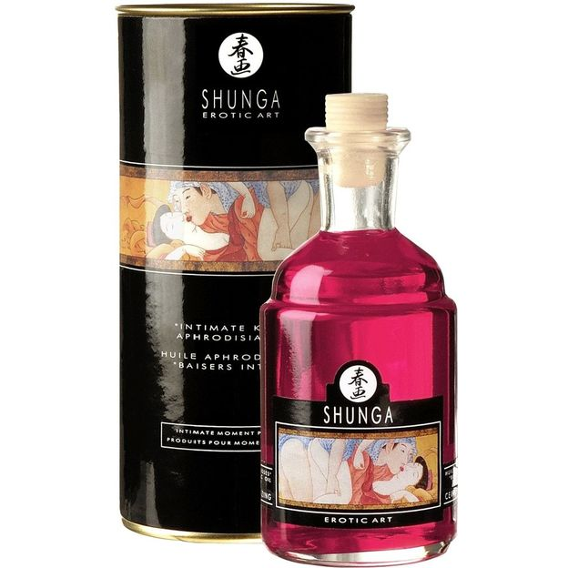 Shunga Massage-Öl wärmend Strawberry