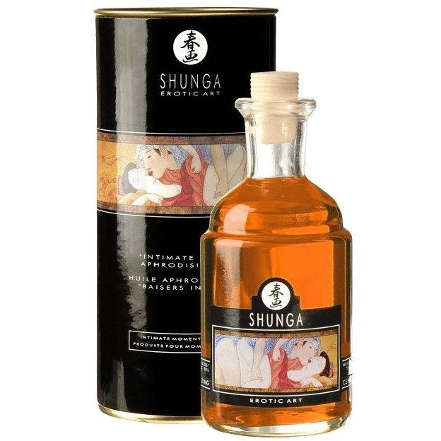 Huile aphrodisiaque Shunga Baisers Intimes Orange Fantaisie