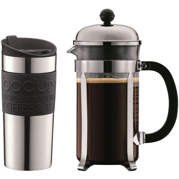 cafeti re piston et mug chambord de bodum. Black Bedroom Furniture Sets. Home Design Ideas