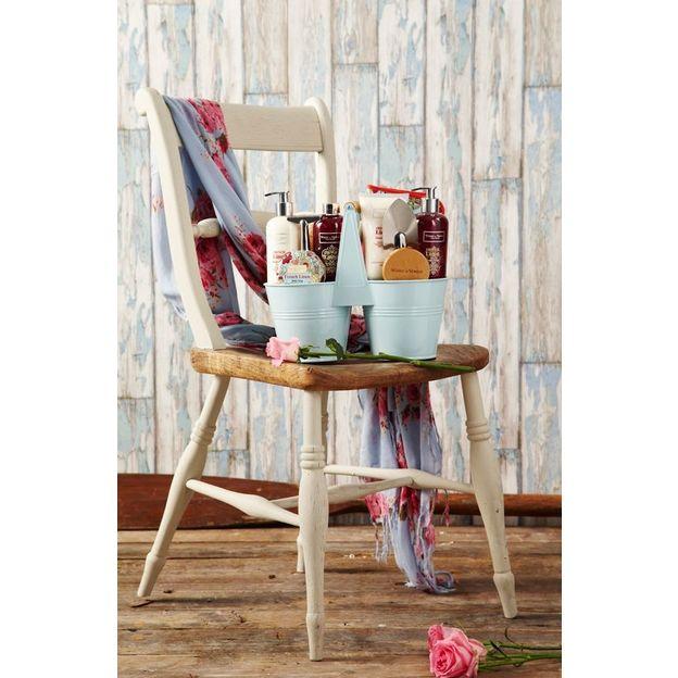 Geschenkset French Linen Blumentopf