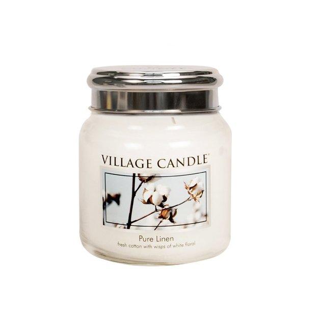 Village Candle Bougie parfumée Pur Lin