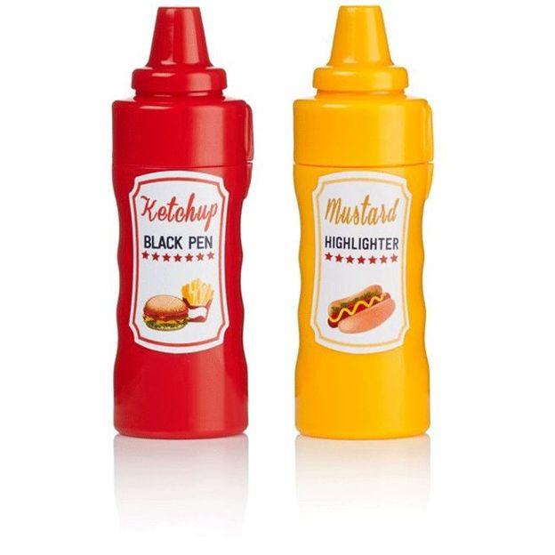 Senf und Ketchup Kugelschreiber/Textmarker