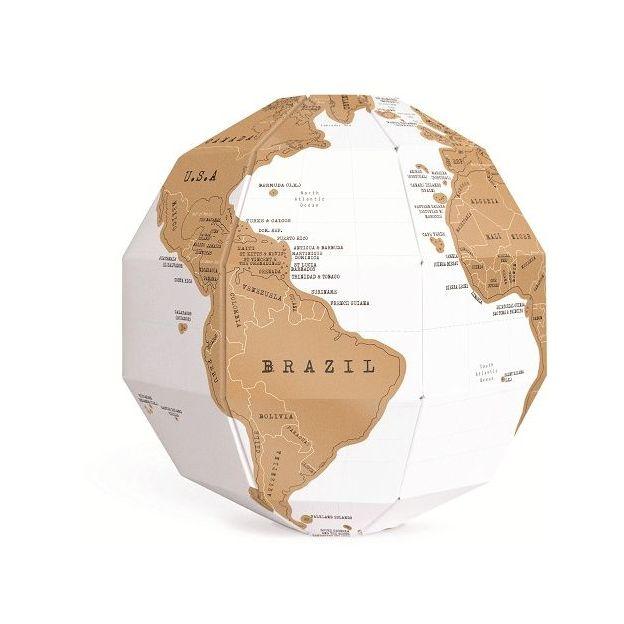 Globe terrestre à gratter Scratch Map Globus