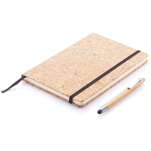 Notizbuch A5 mit Stift aus Bambus