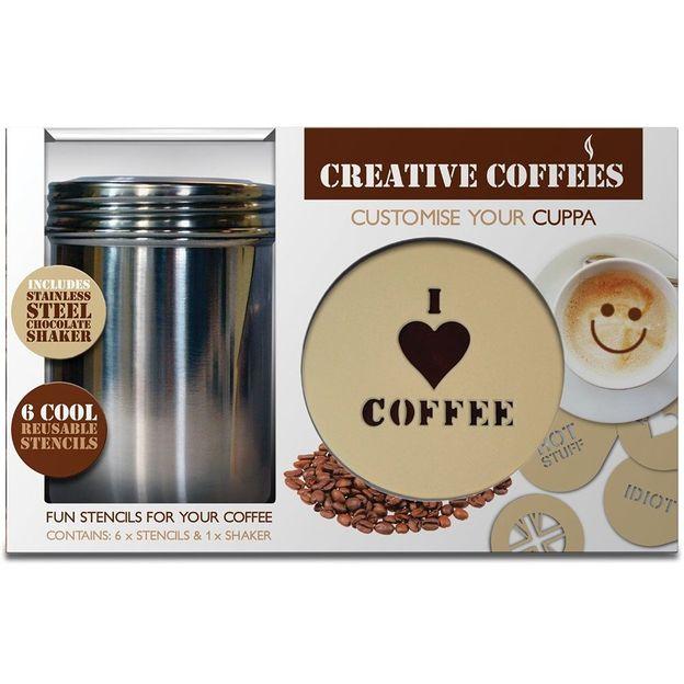 Kaffee Dekor-Schablonen