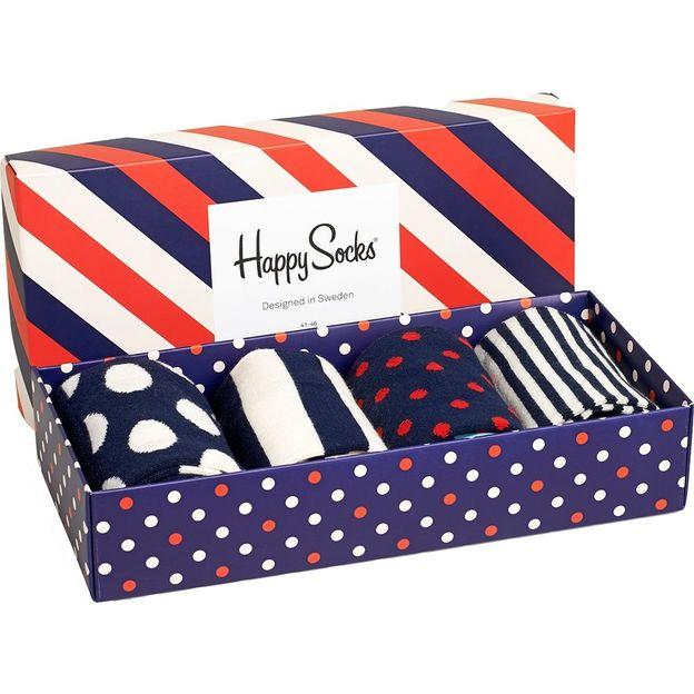 Coffret chaussettes Happy Socks bleu-rouge, taille 36-40