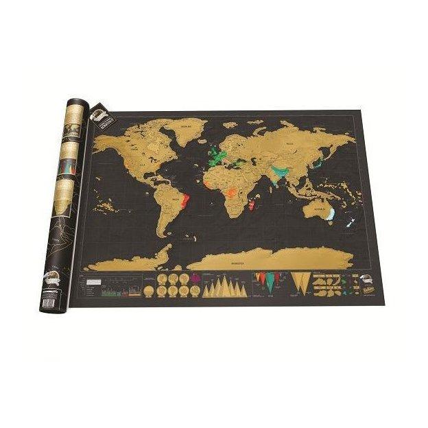 Carte du monde Scratch Deluxe