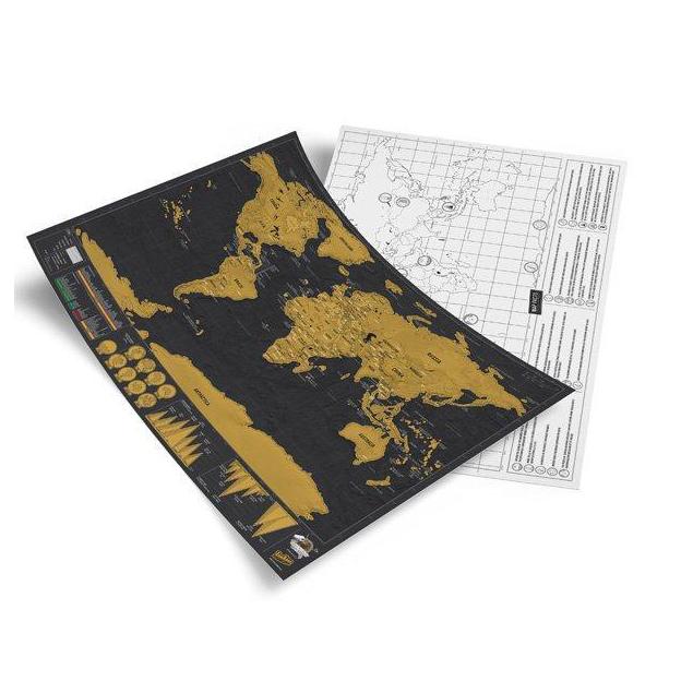 Carte du monde Scratch Deluxe édition de voyage