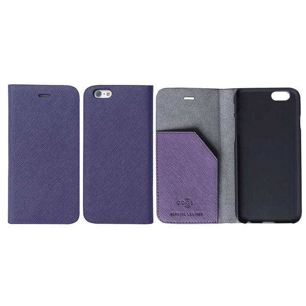 Saffiano Leder-Schutzhülle iPhone 6 PLUS violett