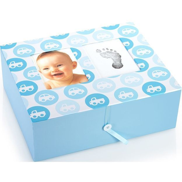 Baby Erinnerungsbox Automotiv blau