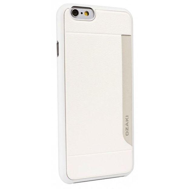 Coque Ozaki o! Coat Pocket pour iPhone 6 blanc