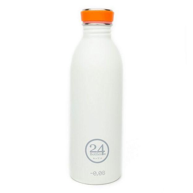 Trinkflasche 24bottles Ice White