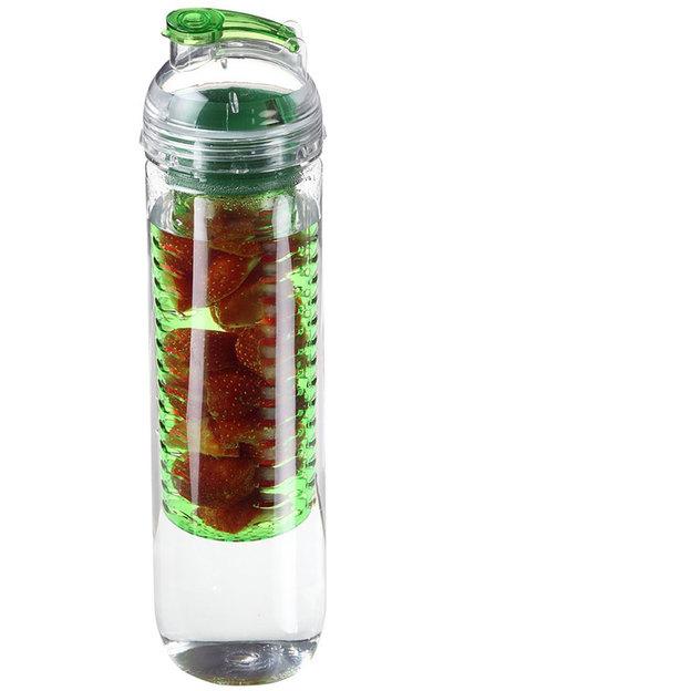 Trinkflasche mit Aromafach grün