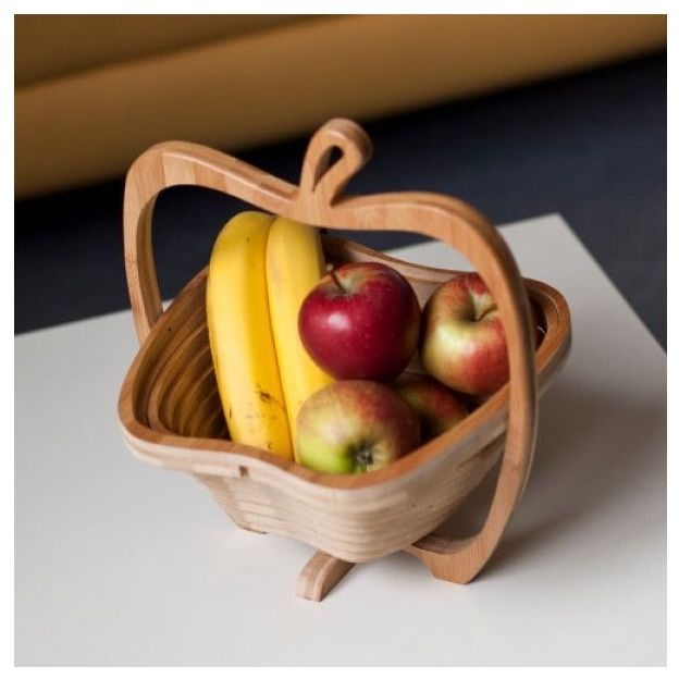 Faltbarer Obstkorb und Untersetzer