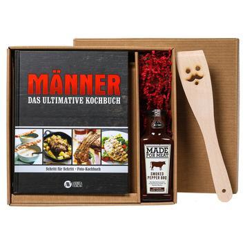 Männer Weihnachtsgeschenke.Geschenkbox Das Ultimative Männer Kochbuch