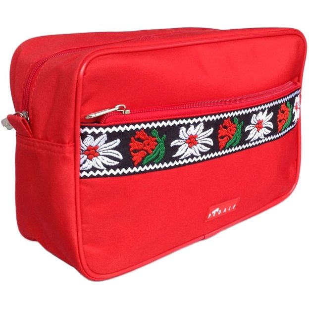 Trousse de toilette  Edelweiss bordure rouge