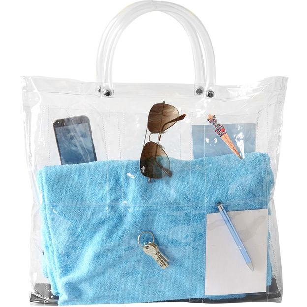 Transparente bestückbare Plastiktasche